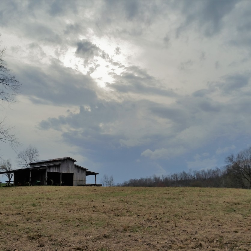 A cloudy spring afternoon on the farm